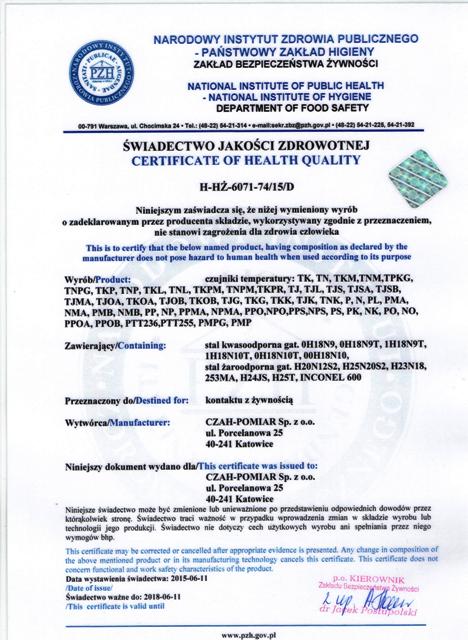 certyfiktate-of-health-quality