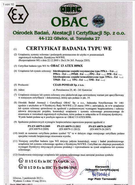 Zertifikate OBAC