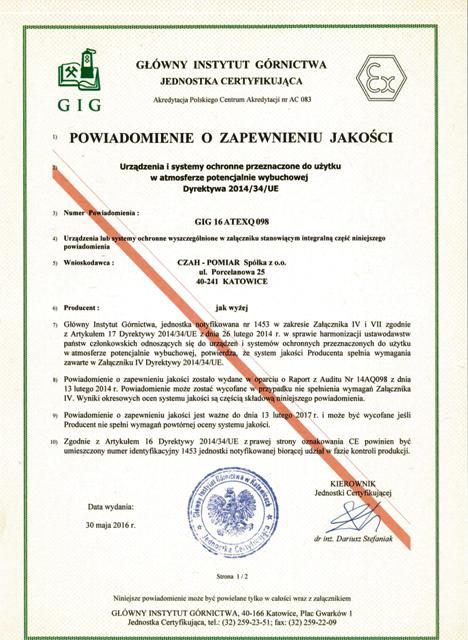 zertifikate-instytut-gornictwa-1
