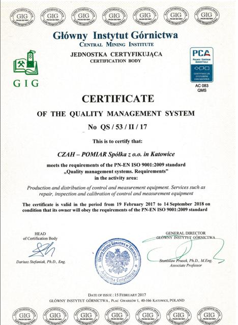 zertifikate-instytut-gornictwa